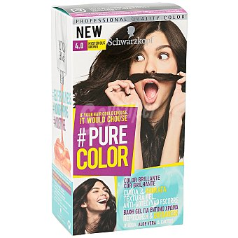 Schwarzkopf Tinte #pure Color 4.0 mysterious brown 1 ud