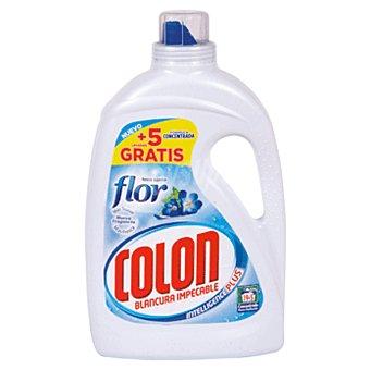 COLON detergente máquina líquido gel Toque de Flor concentrado  botella 20 dosis + 4 gratis