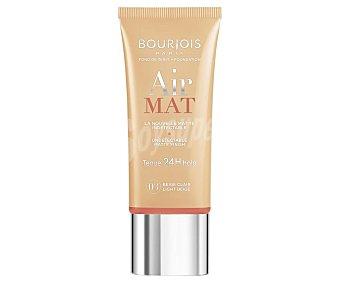 Bourjois Paris Maquillaje líquido matificante con acabado mate tono 003 Light beige Air mat 24 H