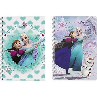 Disney Frozen Cuaderno tamaño Folio Tapa Dura 80 hojas