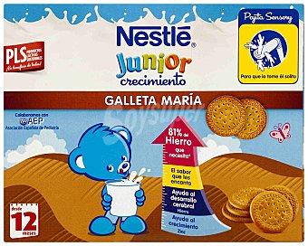 Junior Nestlé Crecimiento leche infantil con galletas María pack 3x200 ml estuche 600 ml Pack 3x200 ml