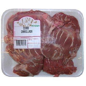 Carrillada de cerdo ibérico peso aproximado Bandeja 700 g