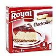 Pastel de queso para preparar con sirope de fresa Caja 325 g (8 raciones) Royal