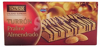 Hacendado Turron praline almendrado *navidad* Pastilla 200 g