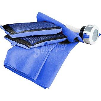Casactual Sprint toalla lisa de microfibra en color azulon 80 x 140 cm