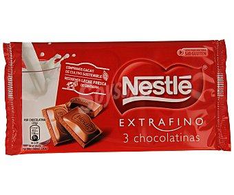 Extrafino Nestlé Chocolatina extrafino Pack 3x20 g