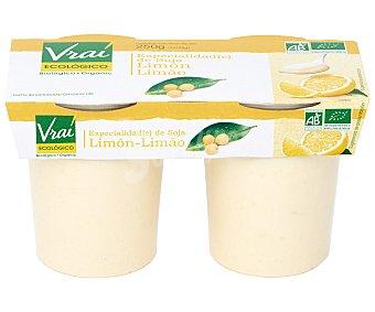 Vrai Yogur soja limón Pack de 2x125 g