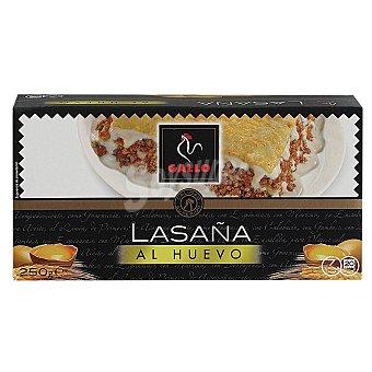 Gallo Lasaña, pasta de sémola de trigo duro de calidad superior en placas precocidas 250 Gramos