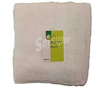 PRODUCTO ECONÓMICO ALCAMPO Toalla lisa de lavabo de algodón cardado, color blanco, 50x90 centímetros 1 Unidad