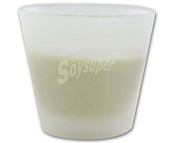 AUCHAN Vela en vaso de 8 centímetros, perfumada y con olor a vainilla 1 Unidad