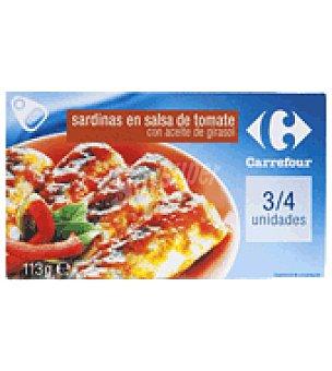 Carrefour Sardinillas con tomate en aceite vegetal Lata de 113 g.