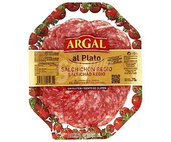 Argal Salchichón Regio Sin Gluten Plato 75 Gramos