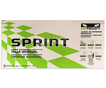 CAR FACTORY Juego de 4 alfombrillas universales de moqueta de color negro, modelo Sprint 1 unidad