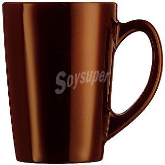 LUMINARC Flashy mug de vidrio metalizado en color chocolate 32 cl