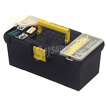 STANLEY Caja herramientas con organizadores en la tapa color gris/amarillo de 32 cm
