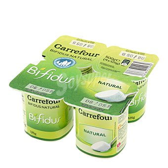 Carrefour Yogur Bífidus natural Pack de 4x125 g