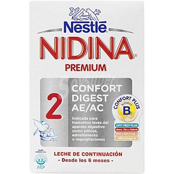 Nidina Nestlé Leche de continuación en polvo desde los 6 meses Premium 2 Confort Digest Envase 750 g