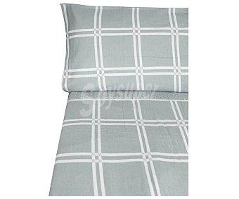 Producto Alcampo Juego de sábanas de franela para cama de 150cm., color gris alcampo