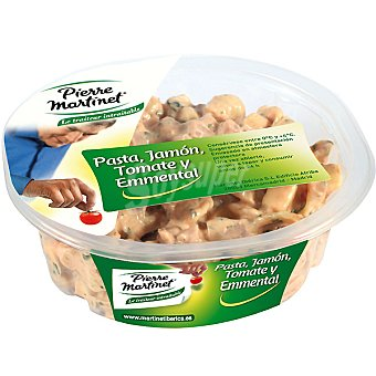 PIERRE MARTINET Ensalada fresca con pasta, jamón, tomate y emmental Envase 250 g