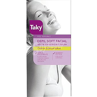 TAKY Depil Soft Crema depilatoria facial para piel sensible Tubo 20 ml