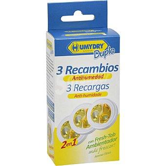 Humydry Antihumedad perfume aroma citrico recambios bolsa 75 g Pack 3