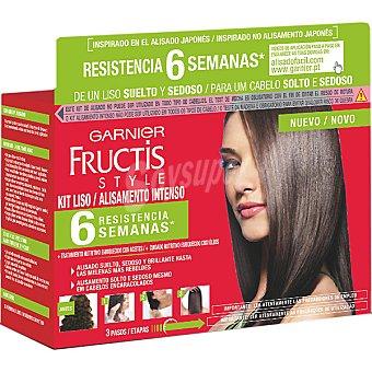 Fructis Style Garnier kit alisamiento intenso 6 semanas tratamiento nutritivo enriquecido con aceites Caja 1 unidad