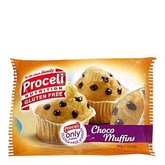 Proceli Muffins choco 2 unidades - Sin Gluten 90 g