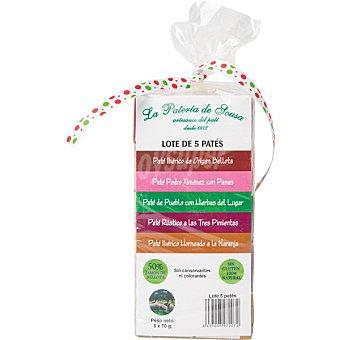 La pateria de sousa Surtido de patés Pack 5 envases 70 g