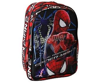 PERONA Mochila Con Asas Reforzadas, Amplio Bolsillo Frontal con Cierre de Cremallera y Diseño de Spiderman 1 Unidad