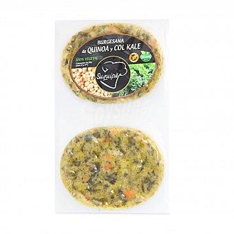 Suquipà Hamburguesa de Quinoa y Col Kale 100% Vegetal Burguesana (2x90g) 180 G 2 x 90 g