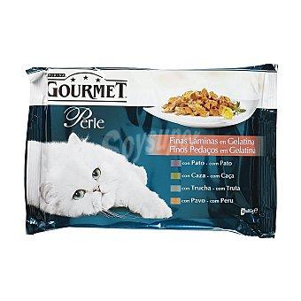 Gourmet Comida húmeda para gatos adultos Gourmet Perle Finas láminas en gelatina 340 gr