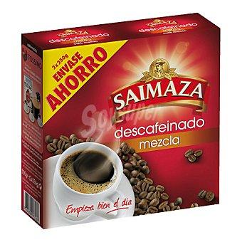 Saimaza Café molido mezcla descafeinado Pack de 2x250 g