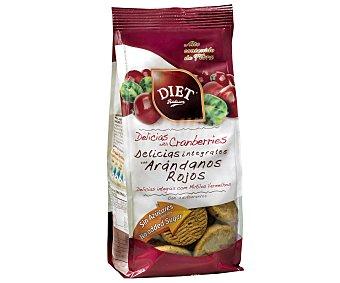 Diet Rádisson Delicias integrales con arándanos rojos sin azúcar 175 gramos