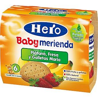 Hero Baby Tarrito plátano fresa y galletas María Marienda estuche 400 g