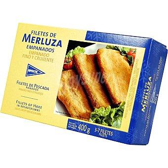 HIPERCOR filetes de merluza empanados estuche 400 g