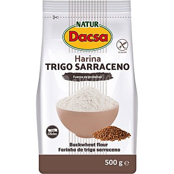 Naturdacsa Harina de trigo integral sarraceno sin gluten Bolsa 500 g