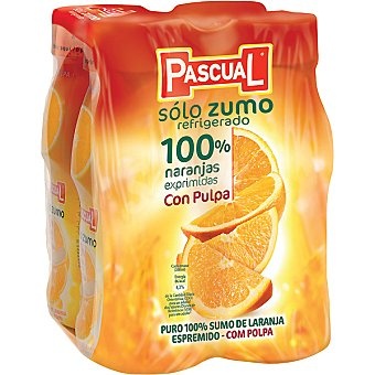 Pascual Solo Zumo Naranja con Pulpa Refrigerado 4 x200ml