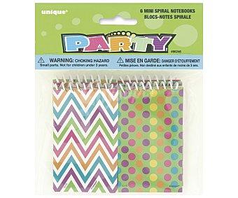 Party Relleno para piñatas, minilibretas con espiral 6 unidades