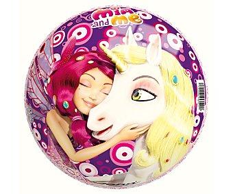 MIA AND ME Pelota infantil de 23 centímetros decorada con los personajes y hadas de la serie 1 unidad
