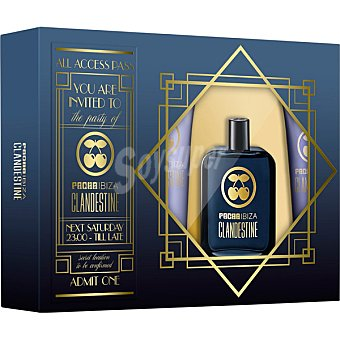 Pachá Ibiza Clandestine eau de toilette masculina + gel de baño + after shave estuche 1 unidad Spray 100 ml