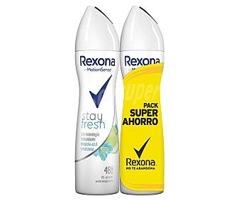 Rexona Desodorante en spray para mujer, con amapola azul y manzana stay fresh 2 x 200 ml