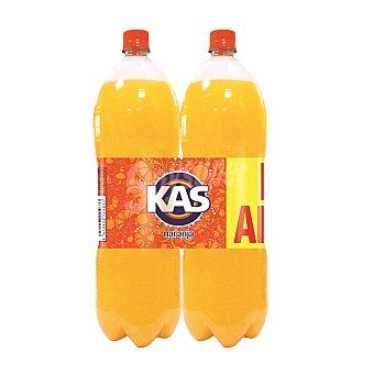 Kas Refresco de naranja con gas  Pack 2x2 l
