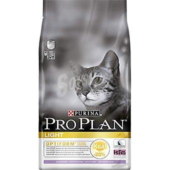 Purina Pro Plan Alimento para gato adulto para control de peso con pavo Light Optiform Bolsa 1,5 kg