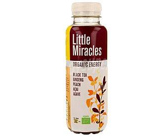LITTLE MIRACLES Bebida bio de te negro al melocotón con ginseng 330 mililitros