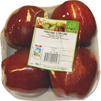 E.SANCHEZ Manzana starking ecológica Bandeja 700 g peso aprox. (4 unidades)