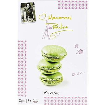 Macarons de Pauline Galletas rellenas de pistacho Estuche 72 g