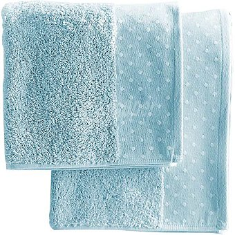 CASACTUAL Macarena toalla jacquard de tocador en color azul