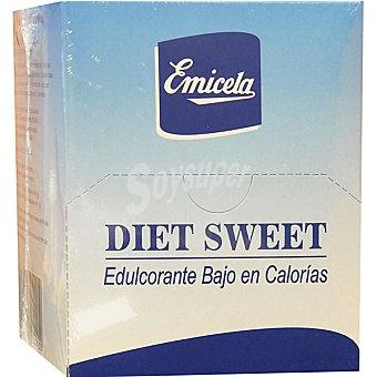 EMICELA Diet Sweet Edulcorante bajo en calorías Paquete 60 unidades