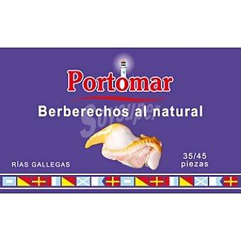 PORTOMAR SERIE NAUTICA Berberechos de las rías gallegas al natural lata 62 g 35-45 piezas Lata 62 g