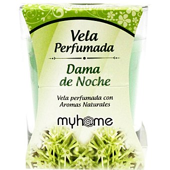 S&S Myhome vela perfumada Dama de Noche con aromas naturales vaso 1 unidad Vaso 1 unidad